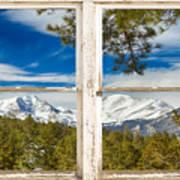 Colorado Rocky Mountain Rustic Window View Poster