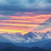 Colorado Rocky Mountain Sunset Waves Of Light Part 1 Poster
