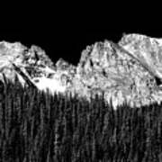 Colorado Rocky Mountains Indian Peaks Fine Art Bw Print Poster