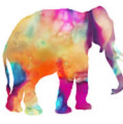 Colored Elephant Painting Poster
