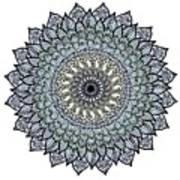 Colored Flower Zentangle Poster