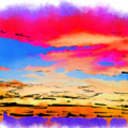 Colorful Abstract Sunset Poster