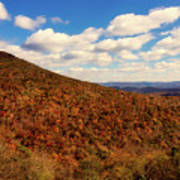 Colorful Autumn Panorama - West Virginia Poster
