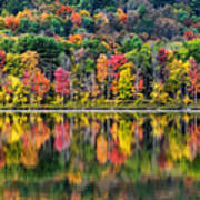 Colorful Autumn Reflections Poster