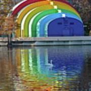 Colorful Bandshell Poster
