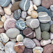 Colorful Beach Pebbles Poster