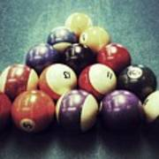 Colorful Billiard Balls Poster