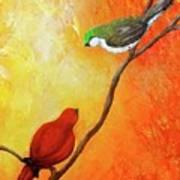 Colorful Bird Art Poster