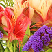 Colorful Bouquet Of Flowers Poster