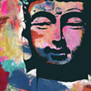 Colorful Buddha 2- Art By Linda Woods Poster