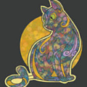 Colorful Cat Art Poster