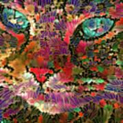 Flower Cat 1 Poster