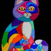 Colorful Cats And Kittens Poster