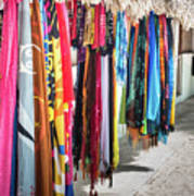Colorful Dominican Garments Poster