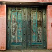 Colorful Doors Antigua Guatemala Poster