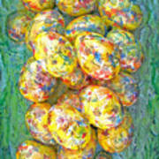 Colorful Eggs Poster by Carl Deaville