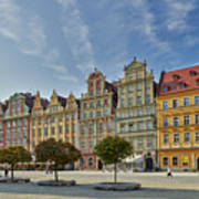 colorful facades on Market Square or Ryneck of Wroclaw Poster