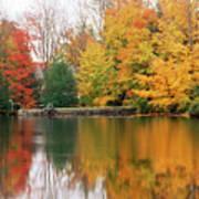Colorful Fall Foliage Ossipee Lake New Hampshire Poster