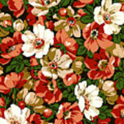 Colorful Floral Design Poster