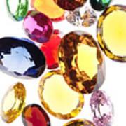 Colorful Gems Poster by Setsiri Silapasuwanchai