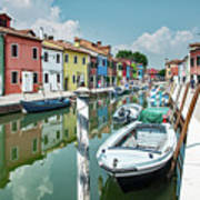 Colorful Homes Of Burano Poster