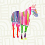 Colorful Horse 2- Art By Linda Woods Poster