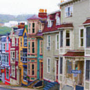 Colorful Houses In St. Johns, Nl Poster