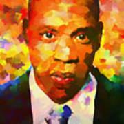 Colorful Jay Z Palette Knife Poster