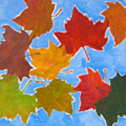 Colorful Leaves Poster