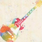 Colorful Les Paul Poster