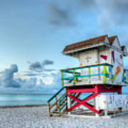 Colorful Lifeguard Tower Poster