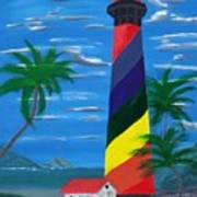 Colorful Lighthouse Poster