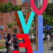 Colorful Love Sign In Kaohsiung Poster