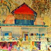 Colorful Mauritiun Cottage Poster