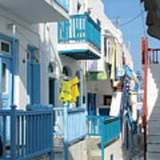 Colorful Mykonos Poster