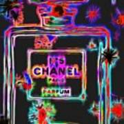 Colorful Neon Chanel Five  Poster