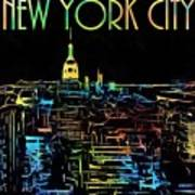 Colorful New York City Skyline Poster