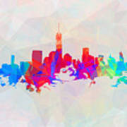 Colorful New York Skyline Poster