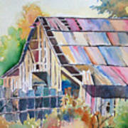 Colorful Old Barn Poster