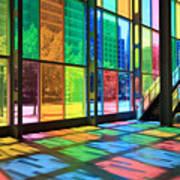 Colorful Palais Des Congres Montreal Canada Poster
