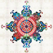 Colorful Pattern Art - Color Fusion Design 3 By Sharon Cummings Poster