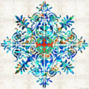 Colorful Pattern Art - Color Fusion Design 5 By Sharon Cummings Poster