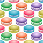 Colorful Pop Art Macarons Poster