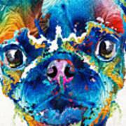 Colorful Pug Art - Smug Pug - By Sharon Cummings Poster