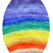 Colorful Rainbow Colored Egg Poster