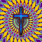 Colorful Retro Cross Poster
