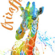Colorful Safari Animals D Poster