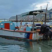 Colorful Saint Martin Power Boat Caribbean Poster