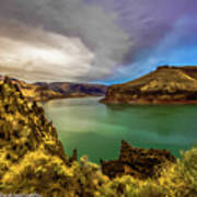 Colorful Skies Over Lake Owyhee Poster