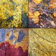 Colorful Slate Tile Abstract Composite Sq1 Poster